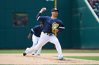 Columbus Clippers relief pitcher Toru Murata (17) during a game against the Lehigh Valley IronPigs on May 12, 2016 at Huntington Park in Columbus, Ohio.  Lehigh Valley defeated Columbus 2-1.  (Mike Janes/Four Seam Images)