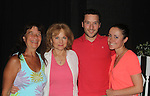 "Loving's Susan Keith came to see her husband in the play ""The Crusade of Connor Stephens"" - The Story Of An American Tragedy on opening night on July 20, 2016 at The 17th Annual Midtown International Theatre Festival at the Workshop Theater, New York City, New York. Susan poses with Donna Lynn and Dina and Austin Scherer.  (Photo by Sue Coflin/Max Photos)"