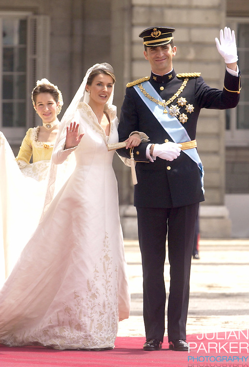 The wedding of Crown Prince Felipe of Spain & Letizia Ortiz Rocasolano in Madrid..Picture: UK PRESS