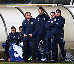 Ally McCoist busting a gut on the sidelines as he yells his side on