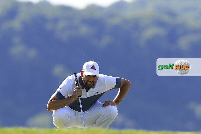 Sergio Garcia (ESP) lines up his birdie putt on the 17th green during Friday's Round 2 of the 2016 U.S. Open Championship held at Oakmont Country Club, Oakmont, Pittsburgh, Pennsylvania, United States of America. 17th June 2016.<br /> Picture: Eoin Clarke | Golffile<br /> <br /> <br /> All photos usage must carry mandatory copyright credit (&copy; Golffile | Eoin Clarke)