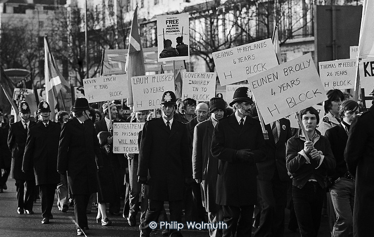 Relatives Action Committee demonstration, Hyde Park, London.