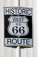 Hiistoric route 66 sign located in Galena Kansas.