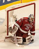Merrick Madsen (Harvard - 31) - The University of Minnesota Duluth Bulldogs defeated the Harvard University Crimson 2-1 in their Frozen Four semi-final on April 6, 2017, at the United Center in Chicago, Illinois.