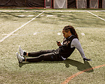 March 19, 2017. Chapel Hill, North Carolina.<br /> <br /> Khris Francis is a receiver that worked with Mitch Trubisky at UNC. <br /> <br /> Mitchell Trubisky, the former quarterback of UNC-CH, is projected to be picked in the first round of the 2017 NFL draft.