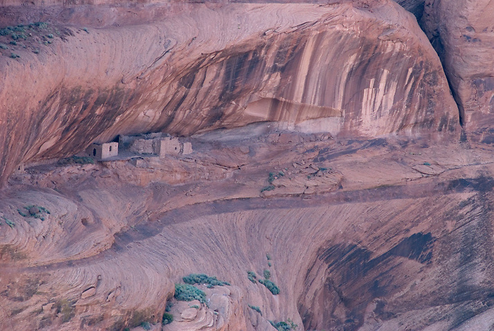 Junction Ruin in Canyon de Chelly National Park, AZ. This ruin is perched high in a sandstone cliff, unaccessible to most. I shot this image from the opposite canyon rim with a zoom lens.