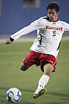 12 December 2008: Doug Rodkey (5) of Maryland.  The University of Maryland Terrapins defeated the St. John's University Red Storm 1-0 during the second sudden death overtime at Pizza Hut Park in Frisco, TX in an NCAA Division I Men's College Cup semifinal game.