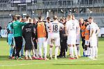 Der SVS nach dem Spiel  beim Spiel in der 2. Bundesliga, SV Sandhausen - FC St. Pauli.<br /> <br /> Foto © PIX-Sportfotos *** Foto ist honorarpflichtig! *** Auf Anfrage in hoeherer Qualitaet/Aufloesung. Belegexemplar erbeten. Veroeffentlichung ausschliesslich fuer journalistisch-publizistische Zwecke. For editorial use only. For editorial use only. DFL regulations prohibit any use of photographs as image sequences and/or quasi-video.