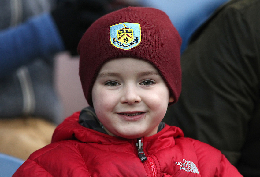 Burnley fans wait for kick-off<br /> <br /> Photographer Rich Linley/CameraSport<br /> <br /> Football - Barclays Premiership - Burnley v Aston Villa - Saturday 29th November 2014 - Turf Moor - Burnley<br /> <br /> &copy; CameraSport - 43 Linden Ave. Countesthorpe. Leicester. England. LE8 5PG - Tel: +44 (0) 116 277 4147 - admin@camerasport.com - www.camerasport.com