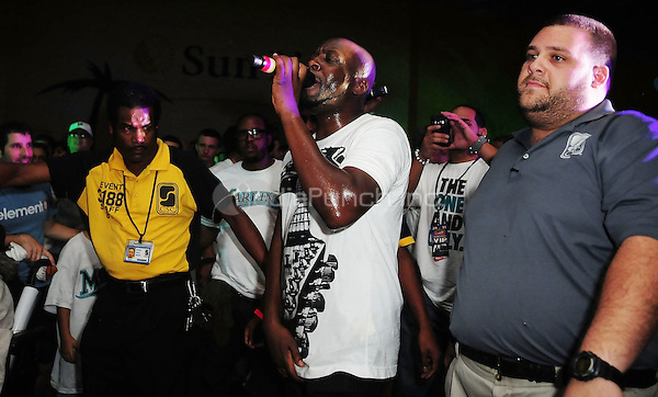 MIAMI GARDENS, FL - SEPTEMBER 03: Wyclef Jean performs at Marlins Super Saturday  at Sun Life Stadium on September 3, 2011 in Miami Gardens, Florida. (photo by: MPI10/MediaPunch Inc.)