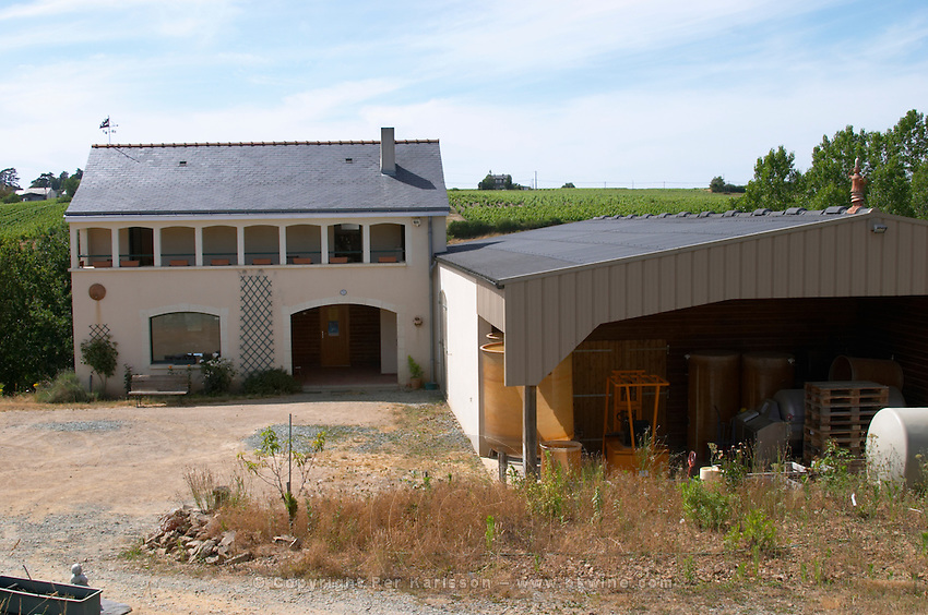 Winery building. Domaine Jo Pithon, Anjou, Loire, France