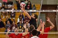 STANFORD, CA - January 2, 2018: Russell Dervay at Burnham Pavilion. The Stanford Cardinal defeated the Calgary Dinos 3-1.