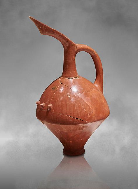 Terra cotta Hittite beaker shaped spouted pitcher - 1700 BC to 1500BC - Kültepe Kanesh - Museum of Anatolian Civilisations, Ankara, Turkey