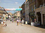 Shoppers in High Street, Stamford, Lincolnshire, England, UK