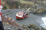 Fishing vessels aground in Clogherhead