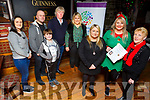 Launching Kirby's Christmas Craic'er, a fundraiser for Acquired Brain Injury Ireland, Castleisland Branch, in Kirby's Bar, Ballyheigue on Monday were front l-r: Rachel O'Brien, Emer O'Mahony and Agnes O'Brien. Back l-r: Gemma Smith, Ray Stack, Tadgh O'Halloran, Michael Leane and Michelle O'Brien. The fundraiser will take place this Saturday, December 15.