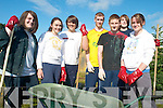 HELPING OUT: Mercy Mounthawk transition year students at the clean up of St John's graveyard in Tralee last Thursday, l-r: Ben Hussey, Sarah Scully, Mark Lee, Sean Williams, Gerard McElligott, Luke Daly, Alison Murray.   Copyright Kerry's Eye 2008