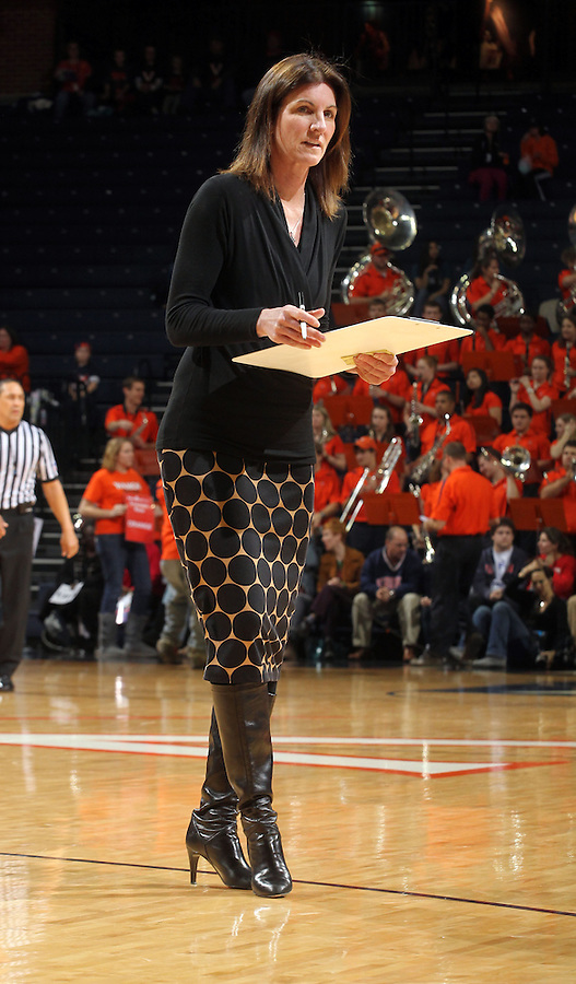 Virginia head coach Joanne Boyle during an NCAA college basketball game in Charlottesville, Va. Duke defeated Virginia 62-41...