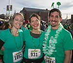 Tasha Holcomb, Natalie Conlan and Tim Gale during the 5th annual Leprechaun Run in Reno on Sunday, March 12, 2017.