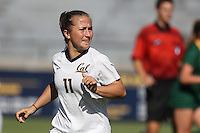 BERKELEY, CA - September 16, 2016: Cal Bears Women's Soccer team vs. the USF Dons at Goldman Field. Final score, Cal Bears 4, USF Dons 1.