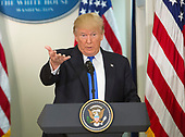United States President Donald J. Trump makes remarks at the first meeting of the Presidential Advisory Commission on Election Integrity at The White House in Washington, DC, July 19, 2017. <br /> Credit: Chris Kleponis / CNP