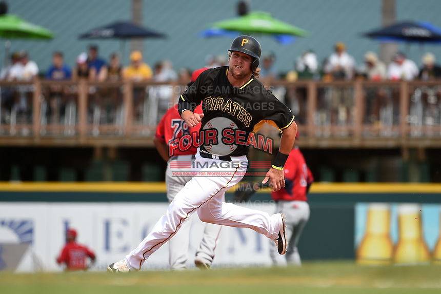 Pittsburgh Pirates infielder Stetson Allie (78) during a Spring Training game against the Minnesota Twins on March 13, 2015 at McKechnie Field in Bradenton, Florida.  Minnesota defeated Pittsburgh 8-3.  (Mike Janes/Four Seam Images)
