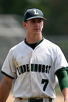 June 12, 2010:  Lindenhurst first baseman Jon McGibbon (7) vs Valley Central during the NYSPHAA Class-AA State Championship semi-final game at Binghamton University in Binghamton, NY.  McGibbon was seleced in the 29th round by the Seattle Mariners of the 2010 MLB draft but chose to attend Clemson University to play for the Bulldogs.  Photo By Mike Janes/Four Seam Images