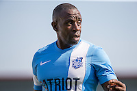 Jamie Lawrence (Ex Pro Footballer) of Celeb FC during the 'Greatest Show on Turf' Celebrity Event - Once in a Blue Moon Events at the London Borough of Barking and Dagenham Stadium, London, England on 8 May 2016. Photo by Andy Rowland.