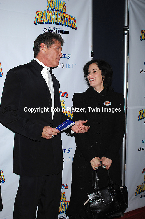 "David Hasselhoff and Parker Posey..arriving at The Broadway Opening Night of The New Mel Brooks Musical ""Young Frankenstein"" on November 8, 2007 at The Hilton Theatre in New York. ..Robin Platzer, Twin Images....212-935-0770"