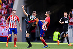 Jorge Koke of Atletico de Madrid (R) trips up with Gonzalo Escalante of SD Eibar (L) during the La Liga match between Atletico Madrid and Eibar at Wanda Metropolitano Stadium on May 20, 2018 in Madrid, Spain. Photo by Diego Souto / Power Sport Images