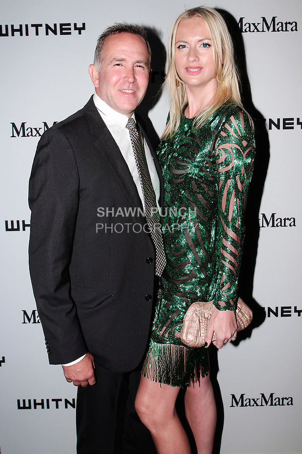 Dionisio Fontana and Lana Smith arrives at the annual Whitney Art Party hosted by the Whitney Contemporaries, and sponsored by Max Mara, at Skylight at Moynihan Station on May 1, 2013.
