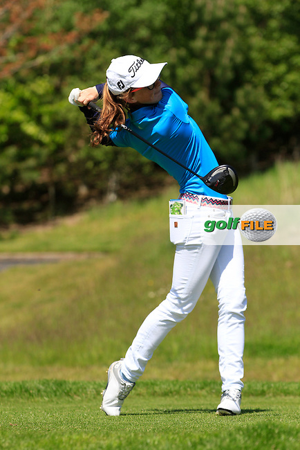 Jessica Ross (Donaghadee) on the 7th tee during Round 1 of the Irish Women's Open Strokeplay Championship at Dun Laoghaire Golf Club on Saturday 23rd May 2015.<br /> Picture:  Thos Caffrey / www.golffile.ie