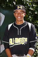 Infielder J.P. Crawford #3 of Lakewood High School in Lakewood, California poses for a photo before participating in the Under Armour All-American Game powered by Baseball Factory at Wrigley Field on August 17, 2012 in Chicago, Illinois.  (Mike Janes/Four Seam Images)