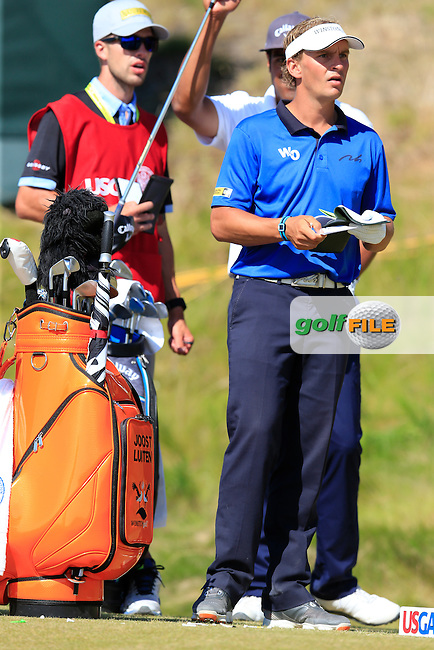 Joost LUITEN (NED) on the 9th tee during Saturday's Round 3 of the 2015 U.S. Open 115th National Championship held at Chambers Bay, Seattle, Washington, USA. 6/21/2015.<br /> Picture: Golffile | Eoin Clarke<br /> <br /> <br /> <br /> <br /> All photo usage must carry mandatory copyright credit (&copy; Golffile | Eoin Clarke)