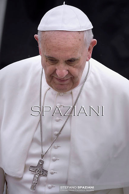 Pope Francis during his weekly general audience in St. Peter square at the Vatican, Wednesday.April 23 2014.
