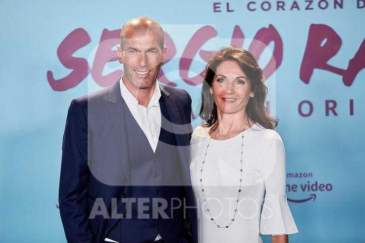 "Zinedine Zidane and Veronique Zidane attends to ""El Corazon De Sergio Ramos"" premiere at Reina Sofia Museum in Madrid, Spain. September 10, 2019. (ALTERPHOTOS/A. Perez Meca)"