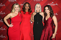 LOS ANGELES, CA - DECEMBER 4: Alison Sweeney, Holly Robinson Peete, Executive Vice President of Hallmark Michelle Vicary Lacey Chabert, at Screening Of Hallmark Channel's 'Christmas At Holly Lodge' at The Grove in Los Angeles, California on December 4, 2017. Credit: Faye Sadou/MediaPunch /NortePhoto.com NORTEPHOTOMEXICO