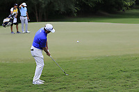 Rod Pampling (AUS) chips onto the 12th green during Friday's Round 2 of the 2017 PGA Championship held at Quail Hollow Golf Club, Charlotte, North Carolina, USA. 11th August 2017.<br /> Picture: Eoin Clarke | Golffile<br /> <br /> <br /> All photos usage must carry mandatory copyright credit (&copy; Golffile | Eoin Clarke)