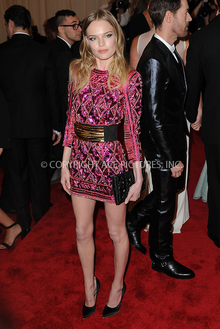 WWW.ACEPIXS.COM . . . . . .May 6, 2013...New York City.....Kate Bosworth attending the PUNK: Chaos to Couture Costume Institute Benefit Gala at The Metropolitan Museum of Art in New York City on May 6, 2013  in New York City ....Please byline: Kristin Callahan...ACEPIXS.COM...Ace Pictures, Inc: ..tel: (212) 243 8787 or (646) 769 0430..e-mail: info@acepixs.com..web: http://www.acepixs.com .