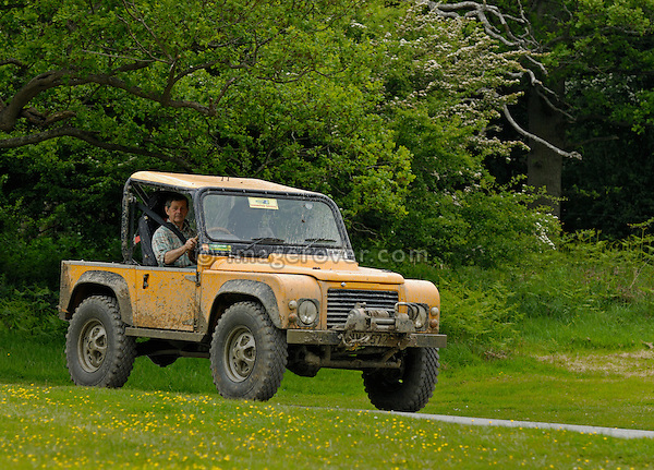Land Rover based off-road racer at the ALRC National 2008. The Association of Land Rover Clubs (ALRC) National Rallye is the biggest annual motor sport oriented Land Rover event and was hosted 2008 by the Midland Rover Owners Club at Eastnor Castle in Herefordshire, UK, 22 - 27 May 2008. --- No releases available. Automotive trademarks are the property of the trademark holder, authorization may be needed for some uses.