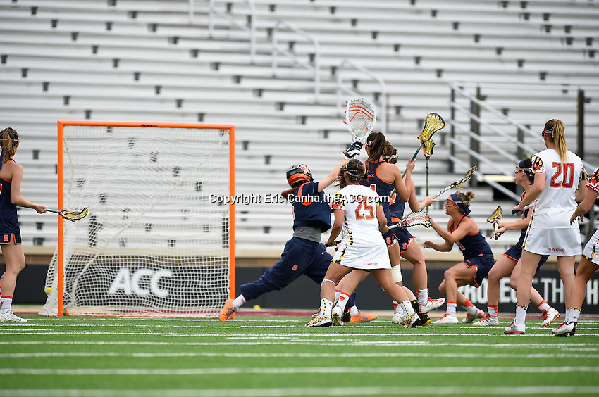 during the 2014 ACC Women's Lacrosse Championship in Boston, MA, Sunday, April 27, 2014. (Photo by Eric Canha,<br /> theACC.com)
