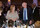 United States Senator Bernie Sanders (Independent of Vermont), a candidate for the Democratic Party nomination for President of the United States, and wife Jane, attend the White House Correspondents' Association annual dinner on April 30, 2016 at the Washington Hilton hotel in Washington. This is President Obama's eighth and final White House Correspondents' Association dinner.<br /> Credit: Olivier Douliery / Pool via CNP