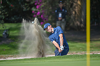 Matt Fitzpatrick (ENG) hits from the trap on 1 during round 3 of the World Golf Championships, Mexico, Club De Golf Chapultepec, Mexico City, Mexico. 3/3/2018.<br /> Picture: Golffile | Ken Murray<br /> <br /> <br /> All photo usage must carry mandatory copyright credit (&copy; Golffile | Ken Murray)