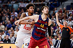 Real Madrid's Trey Thompkins and FC Barcelona Lassa's Ante Tomic duringTurkish Airlines Euroleague match between Real Madrid and FC Barcelona Lassa at Wizink Center in Madrid, Spain. March 22, 2017. (ALTERPHOTOS/BorjaB.Hojas)