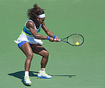 Serena Williams (USA) defeats Maria Sharapova (RUS)  4-6, 6-3, 6-0 in the finals at the Sony Open being played at Tennis Center at Crandon Park in Miami, Key Biscayne, Florida on March 30, 2013