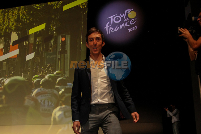 Stephane Rossetto (FRA) at the Tour de France 2020 route presentation held in the Palais des Congrès de Paris (Porte Maillot), Paris, France. 15th October 2019.<br /> Picture: ASO/Thomas Colpaert | Cyclefile<br /> <br /> All photos usage must carry mandatory copyright credit (© Cyclefile | ASO/Thomas Colpaert)