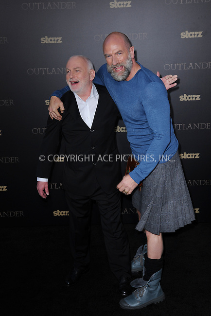 WWW.ACEPIXS.COM<br /> April 1, 2015 New York City<br /> <br /> Gary Lewis and Graham McTavish attending STARZ Original series &ldquo;Outlander&rdquo; celebration of &ldquo;Droughtlander&rdquo; at a special premiere screening of &ldquo;The Reckoning&rdquo; at The Ziegfeld Theater on  April 1, 2015 in New York City.<br /> <br /> Please byline: Kristin Callahan/AcePictures<br /> <br /> ACEPIXS.COM<br /> <br /> Tel: (646) 769 0430<br /> e-mail: info@acepixs.com<br /> web: http://www.acepixs.com