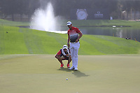 Kruyswijk (RSA) on the 7th green during Round 2 of the Omega Dubai Desert Classic, Emirates Golf Club, Dubai,  United Arab Emirates. 25/01/2019<br /> Picture: Golffile | Thos Caffrey<br /> <br /> <br /> All photo usage must carry mandatory copyright credit (© Golffile | Thos Caffrey)