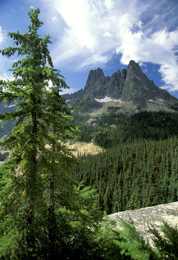 Liberty Bell group from Washington Pass Overlook, North Cascades, Washington