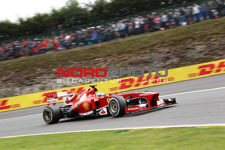 22.08 - 25.08.2013, Circuit de Spa, Francorchamps, BEL, F1, Grosser Preis von Belgien, im Bild  DHL Branding - Fernando Alonso (ESP),  Scuderia Ferrari <br />  Foto &copy; nph / Mathis